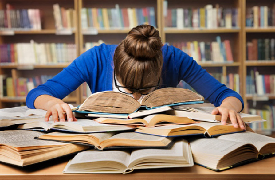 student studying ahead of summer GCSE and A level exams